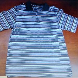 And wot Alan Flusser medium golf shirt striped